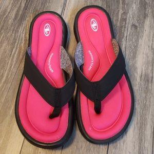 1c0d843b8904 Athletic Works Shoes - Athletic Works Memory Foam Flip Flops